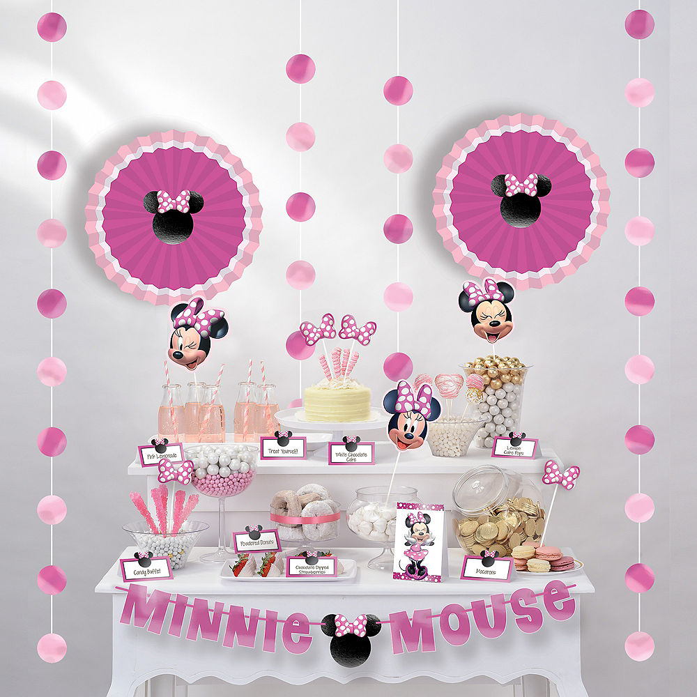 Minnie Mouse Buffet Table Decorating Kit
