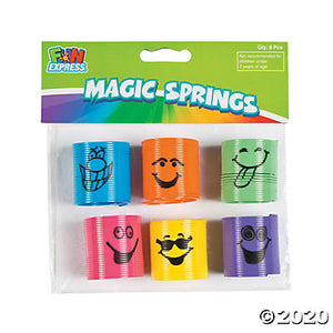 Plastic Mini Goofy Smile Face Magic Springs