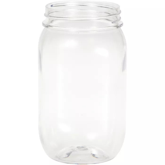 Plastic 16 oz Mason Jar Glasses