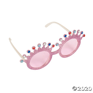Pink Glitter Princess Glasses