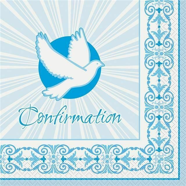 Confirmation Blue - Paper Lunch Napkins 16 ct.