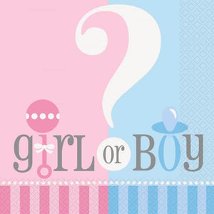 Boy or Girl Baby Shower/Gender Reveal Tableware Pattern