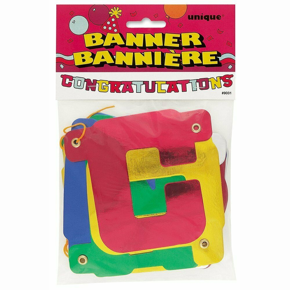 Jointed Congratulations Letter Banner