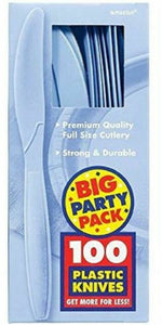 Party Pack Premium Plastic Knives 100ct