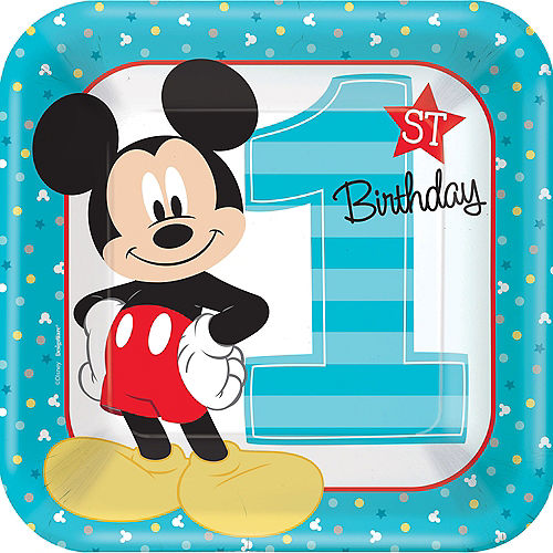 Mickey Mouse First Birthday Tableware