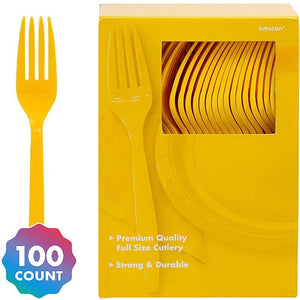 Party Pack Premium Plastic Forks 100ct
