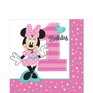 Minnie Mouse 1st Birthday Tableware