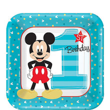 Load image into Gallery viewer, Mickey Mouse First Birthday Tableware