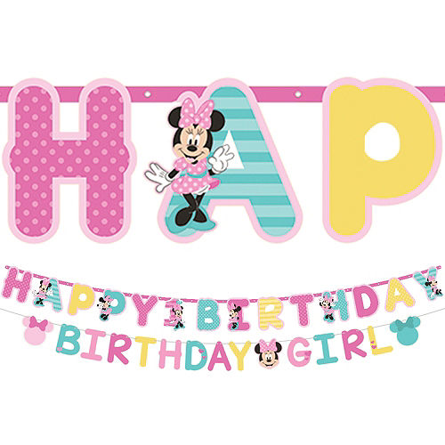 Minnie Mouse 1st Birthday Jumbo Letter Banner Kit