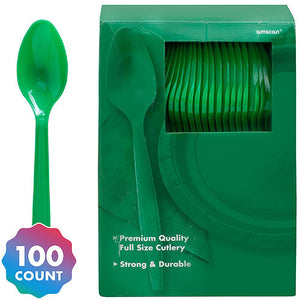 Party Pack Premium Plastic Spoons 100ct