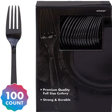 Load image into Gallery viewer, Party Pack Premium Plastic Forks 100ct