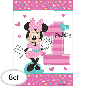 Minnie Mouse 1st Birthday Loot Bags