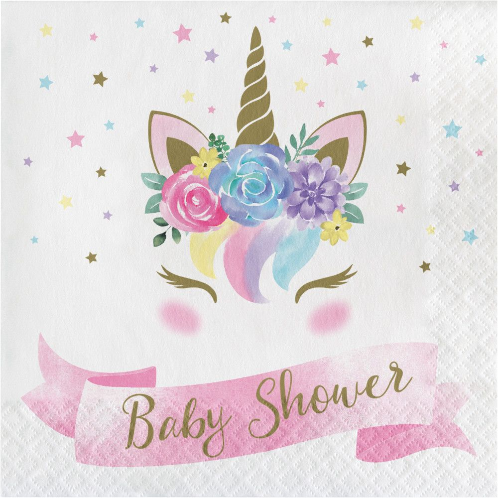 Baby Shower Unicorn Lunch Napkin