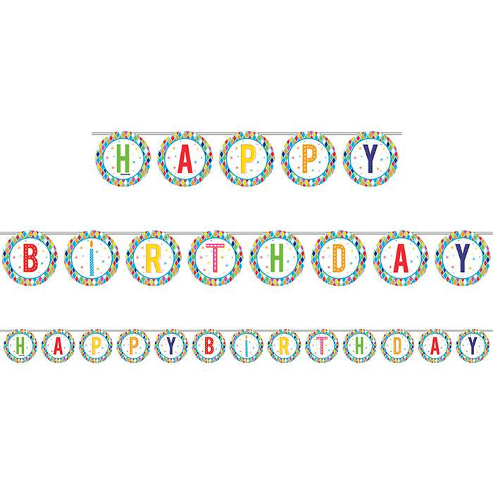 Bright Birthday Shaped Ribbon Banner