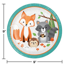Load image into Gallery viewer, Wild One Woodland Animals Tableware