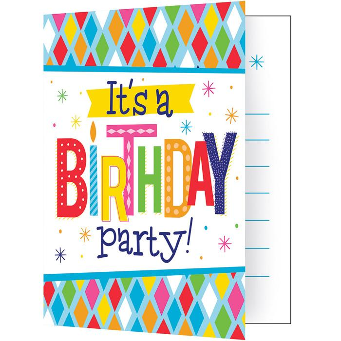 Birthday Bright Folded Invitation