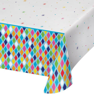 Birthday Brights plastic table cover