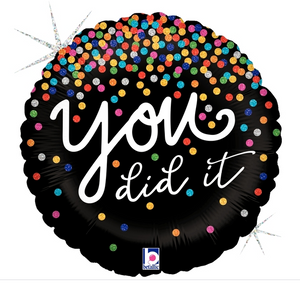 "Glitter ""you did it"" Helium Foil Balloon"