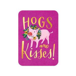 """Hogs & Kisses"" Greeting Card"