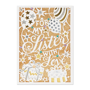 """For My Sister with Love"" Greeting Card"