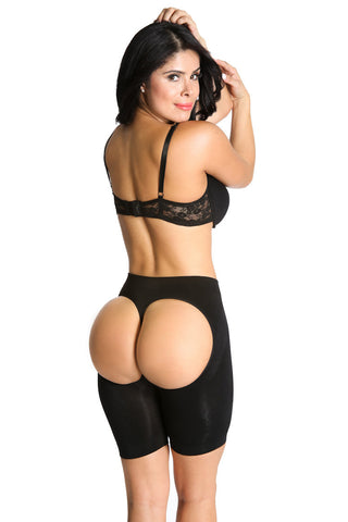 Smok69 Smok69 Sassy Black or Nude Booty Lifting Short  - 1