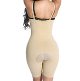 Smok69 Smok69 Mid-Thigh Full Strappy Body Shaper Available in Black and Nude  - 15