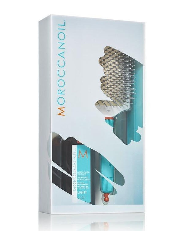 Box Duo Brosse à picots en céramique + Treatment Moroccanoil