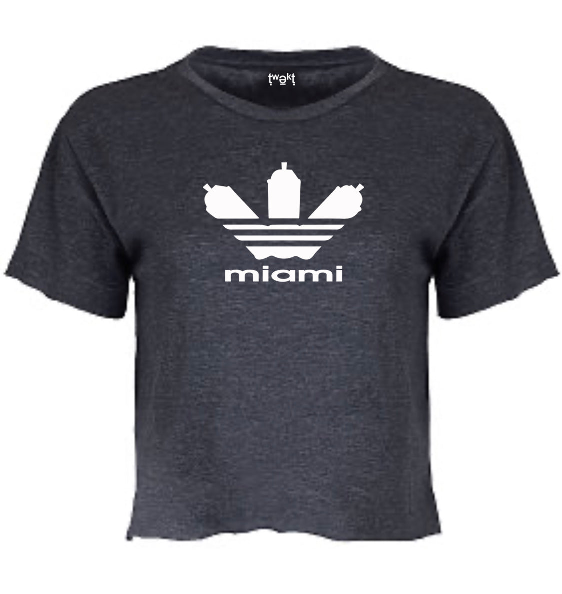 Grafitti Miami Women Crop T-Shirt
