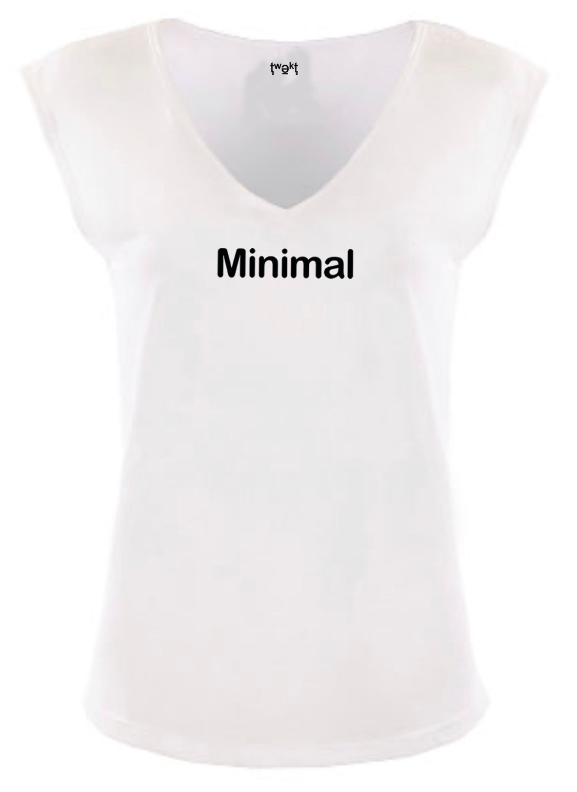 Minimal Women Sleeveless V-neck