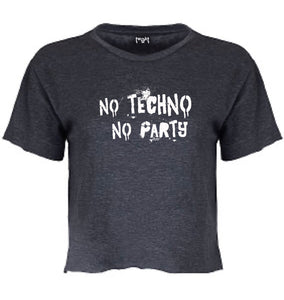 No Techno No Party Women Crop T-shirt