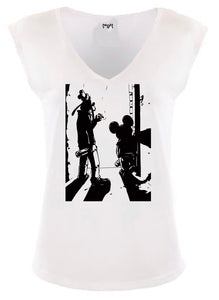 Playaz Women Sleeveless V-neck