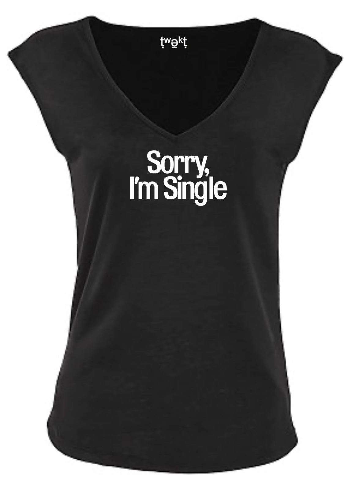Sorry Single Sleeveless V-neck