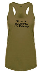 Thank Techno Women Racerback