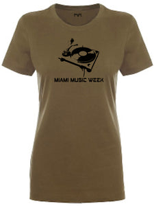 Miami Music Week Turntable Women T-shirt
