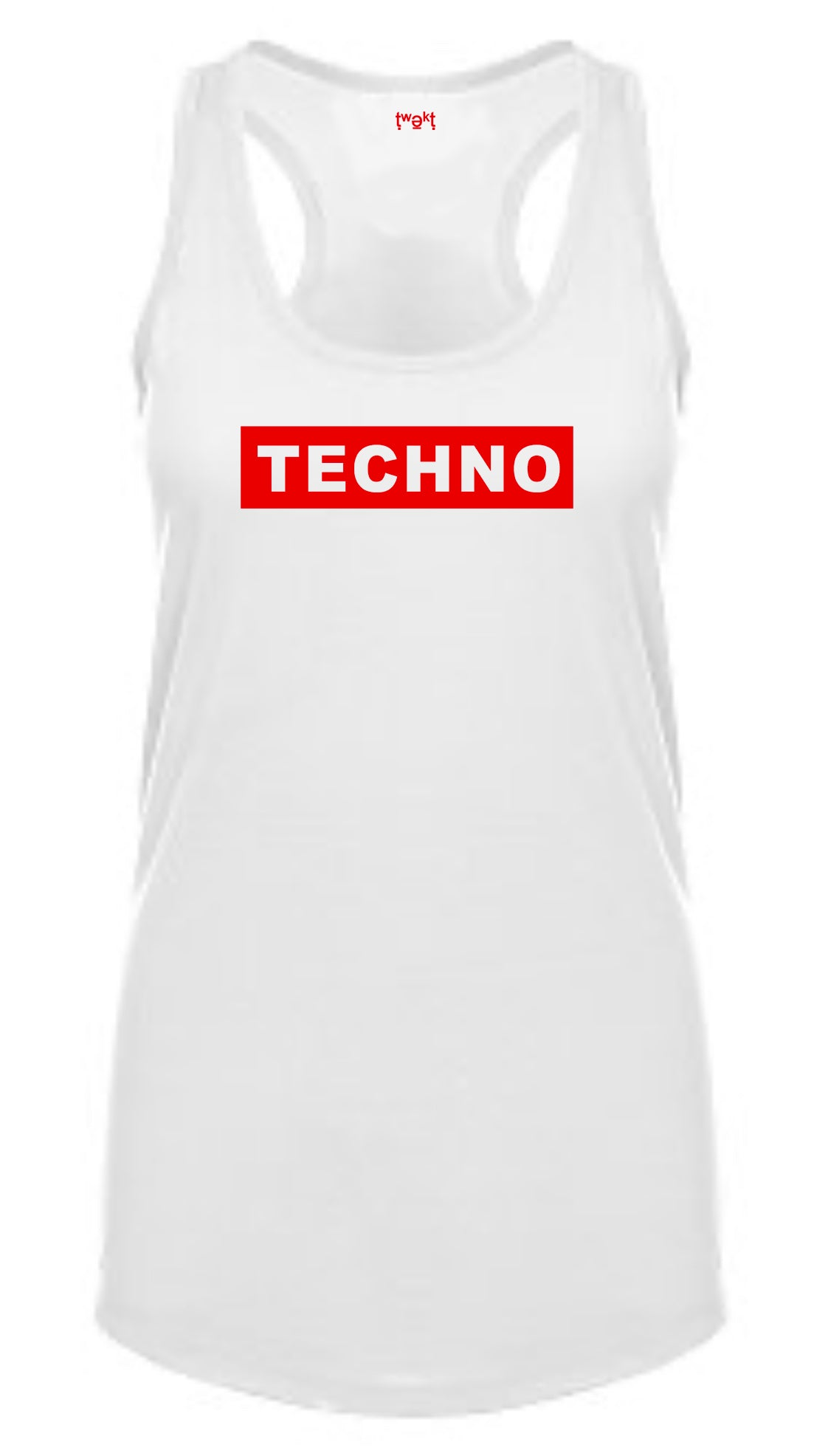 Techno Badge Women Racerback