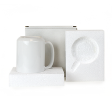 Load image into Gallery viewer, Gift Mug Box for 15oz. Mugs - Cardboard Box with Foam Supports