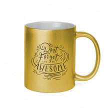 Load image into Gallery viewer, Metallic Gold Ceramic Sublimation Coffee Mug - 11oz.