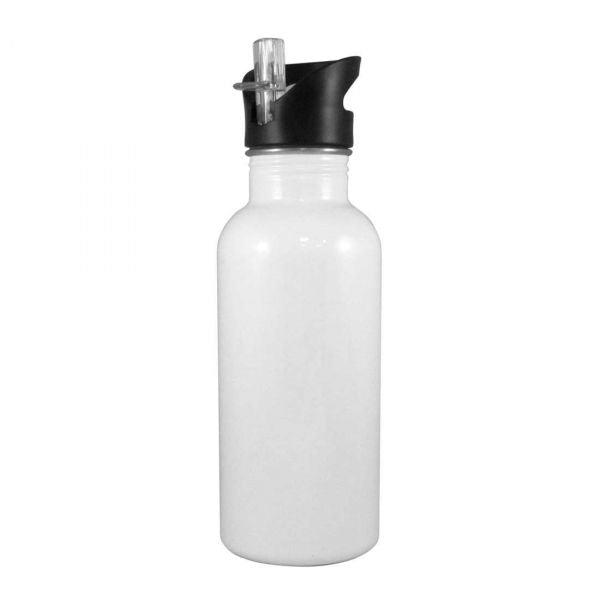 Stainless Steel Straw Top Water Bottle - 600ml