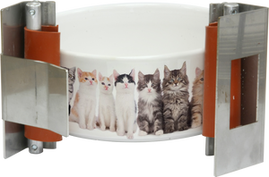 "HIX 2"" Straight Wall Sublimation Oven Cat Bowl Wrap - QTY OF 10 WRAPS"