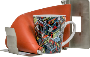 "HIX 4"" Tapered Sublimation Oven 12 oz. Latte Cup Wrap"