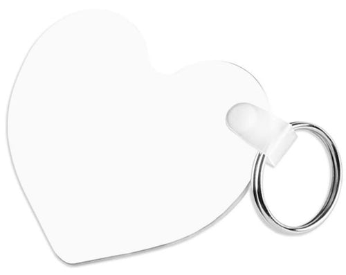Heart FRP Two Sided Sublimation Keychain - 2.5