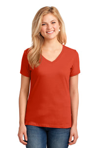 Port & Company® Ladies Core Cotton V-Neck Tee LPC54V (L, XL, XXL)