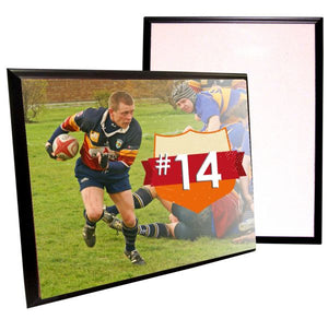 "MDF Hardboard Sublimation Plaque with Black Edge - 11.625"" x 16"""