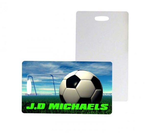 Two Sided FRP Plastic Sublimation Luggage Tags - 2.75