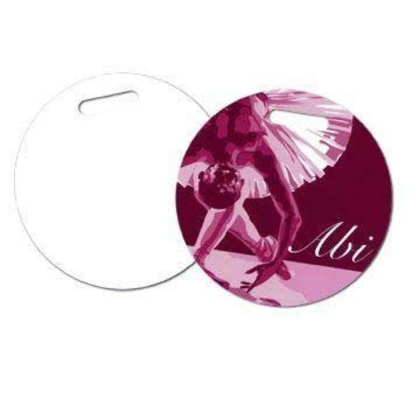 Circle Two Sided FRP Plastic Sublimation Luggage Tags - 4