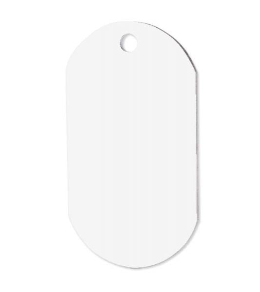 Sublimation Dog Tag - One Sided White Aluminum