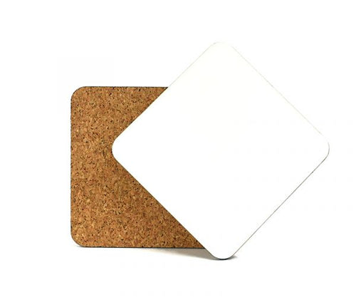 Cork-Back MDF Sublimation Drink Coasters - 3.75