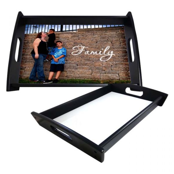 Small Serving Tray in Espresso Black Color with Sublimation Insert - 8