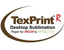 Load image into Gallery viewer, TexPrint-R Sublimation Transfer Paper for Ricoh & Virtuoso Sublimation Printing - 110 sheets