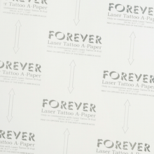 "Load image into Gallery viewer, FOREVER LASER TATTOO PAPER -8.27"" X 11.69""(A4)-100ct A&B"